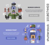 border service and guard point...   Shutterstock .eps vector #1018074403