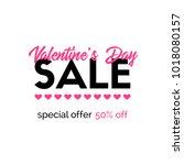 valentines day sale banner.... | Shutterstock . vector #1018080157