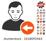 previous user pictograph with... | Shutterstock .eps vector #1018092463