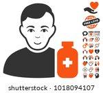 medical pharmacist pictograph... | Shutterstock .eps vector #1018094107
