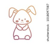 easter rabbit   vector... | Shutterstock .eps vector #1018097587