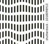 wavy lines monochrome geometric ... | Shutterstock .eps vector #1018098913