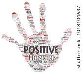 vector conceptual positive... | Shutterstock .eps vector #1018104637