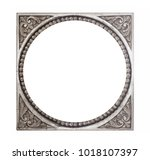 silver frame for paintings ... | Shutterstock . vector #1018107397