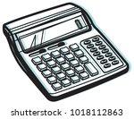calculator icon   illustration... | Shutterstock .eps vector #1018112863