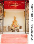 buddhists are worshiping.... | Shutterstock . vector #1018126387