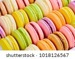french colorful macarons... | Shutterstock . vector #1018126567