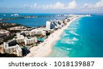 aerial view of cancun  mexico... | Shutterstock . vector #1018139887