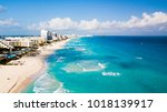 aerial view of cancun  mexico...   Shutterstock . vector #1018139917