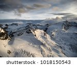 view on the glacier at sunset... | Shutterstock . vector #1018150543