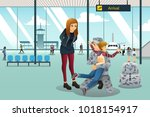 a vector illustration of... | Shutterstock .eps vector #1018154917
