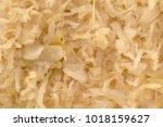 top close view of sauerkraut... | Shutterstock . vector #1018159627