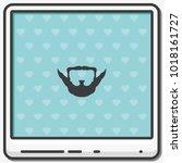 extended goatee style. beard... | Shutterstock .eps vector #1018161727