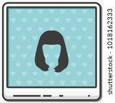 long style hair silhouette.... | Shutterstock .eps vector #1018162333