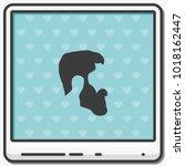 a profile of a mans beard flat... | Shutterstock .eps vector #1018162447