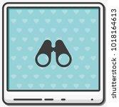 binoculars flat vector icon. | Shutterstock .eps vector #1018164613