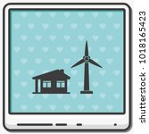 wind electricity generators...   Shutterstock .eps vector #1018165423