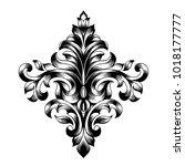 vintage baroque frame scroll... | Shutterstock .eps vector #1018177777
