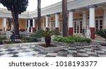 corfu  greece  january 21  2018 ... | Shutterstock . vector #1018193377