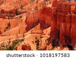 the bryce canyon national park  ... | Shutterstock . vector #1018197583