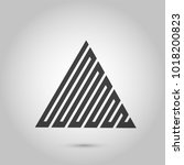 vector hipster triangle... | Shutterstock .eps vector #1018200823