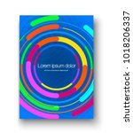 brochure layout with colorful... | Shutterstock .eps vector #1018206337