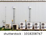 group of air conditioner... | Shutterstock . vector #1018208767