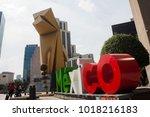 mexico city  mexico. february 5 ... | Shutterstock . vector #1018216183