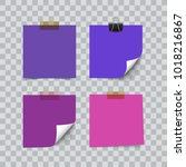 set of ultra violet color... | Shutterstock .eps vector #1018216867