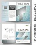 business templates for bi fold...   Shutterstock .eps vector #1018223923