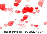 red and pink heart. valentine's ... | Shutterstock . vector #1018224937