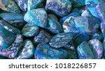 colorful blue rock | Shutterstock . vector #1018226857