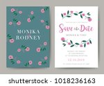 set of wedding card template... | Shutterstock .eps vector #1018236163