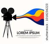 movie and film modern retro... | Shutterstock .eps vector #1018236223