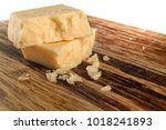 image of two pieces of cheese... | Shutterstock . vector #1018241893