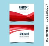 set of abstract  horizontal... | Shutterstock .eps vector #1018253227