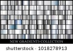 silver gradient set background... | Shutterstock .eps vector #1018278913