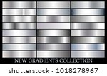 silver gradient set background... | Shutterstock .eps vector #1018278967