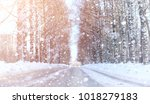 winter landscape snow covered... | Shutterstock . vector #1018279183