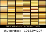 gold gradient set background... | Shutterstock .eps vector #1018294207
