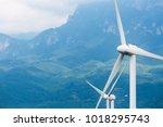 wind power closeup   renewable... | Shutterstock . vector #1018295743