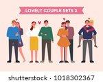 lovely couple character set.... | Shutterstock .eps vector #1018302367