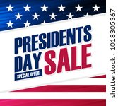 united states presidents day... | Shutterstock .eps vector #1018305367