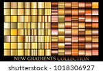gold bronze gradient set... | Shutterstock .eps vector #1018306927