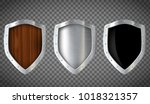set of military wooden and... | Shutterstock .eps vector #1018321357