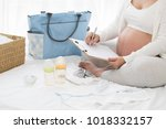 prenatal pregnant women... | Shutterstock . vector #1018332157