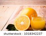 fruit orange juice. fresh... | Shutterstock . vector #1018342237