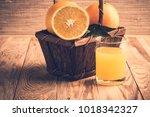 fruit orange juice. fresh... | Shutterstock . vector #1018342327