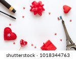 valentine day background | Shutterstock . vector #1018344763