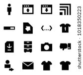 origami style icon set   man... | Shutterstock .eps vector #1018350223